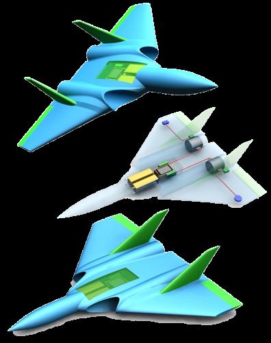 Dual Midi EDF Jet 3